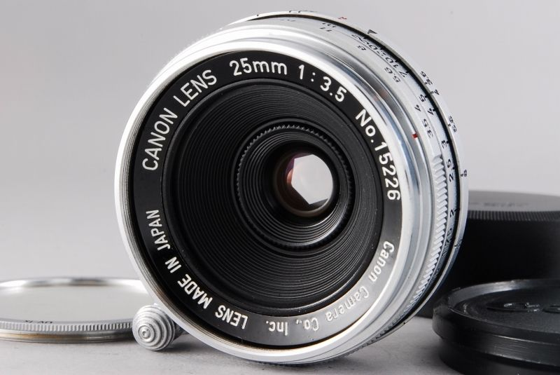 Exc-Canon-25mm-F-35-Lens-for-Leica-Screw